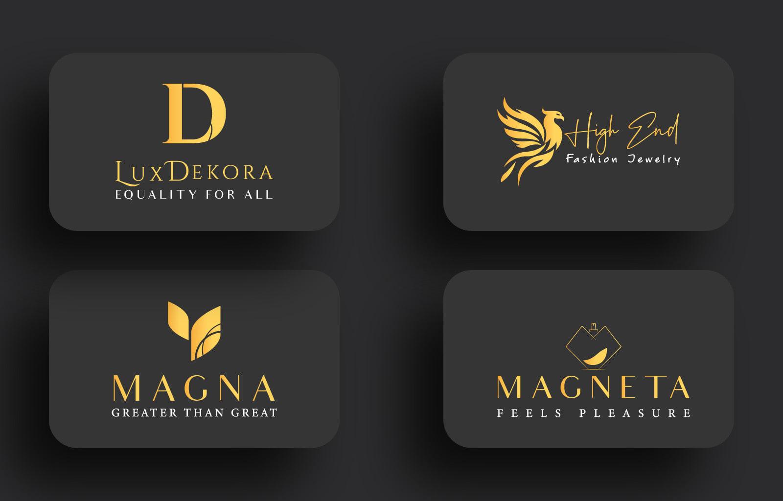 I will creative unique versatile luxury minimalist modern business logo design