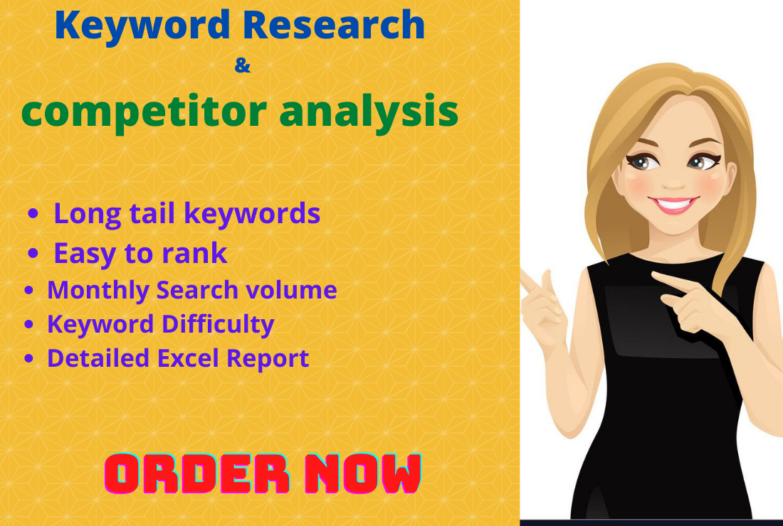 I will do impressive SEO keyword research and competitor analysis