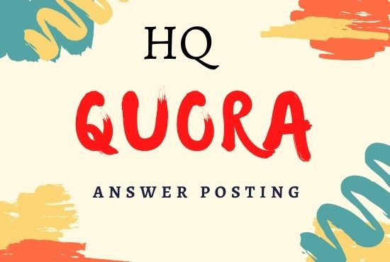I Will do Promote Your Website with 3 High Quality Quora Answers posting