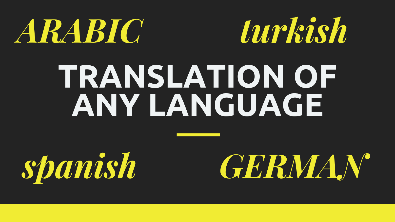 I will professionally translate your text or docs in any language.