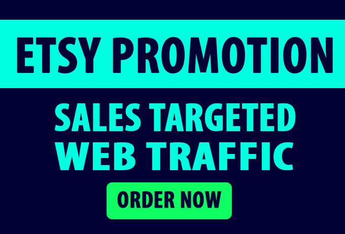 drive USA traffic to ecommerce, website, etsy, ebay, amazon, shopify market promotion