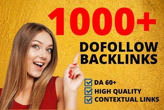 I will do 1000 contextual dofollow white hat backlinks