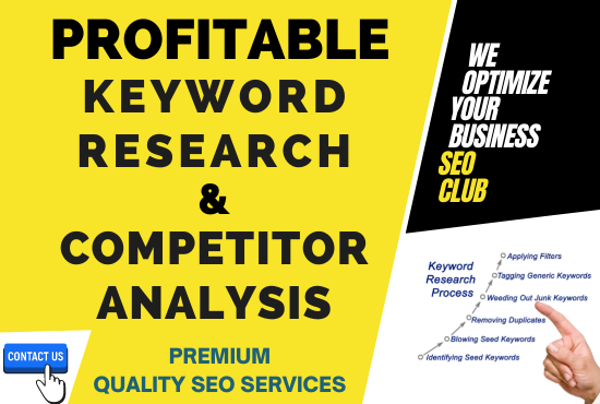 I will do Advance Seo Keyword Research and Competitor Analysis