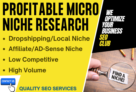 I will find you a low competitive,  high traffic,  profitable niches