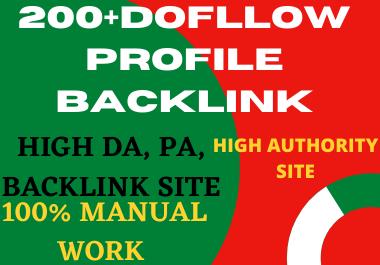 Create manual 200 High Quality PR9 DA 100-70 profile Backlinks