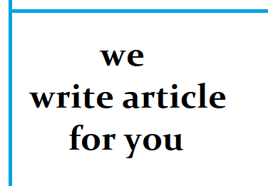 we will write awesome article for you in english language.