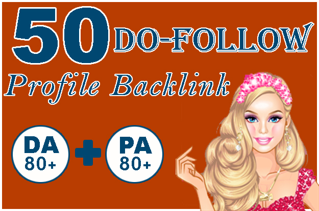 I Will Create 50 pr9 High Quality Profile Backlinks from High DA & PA sites