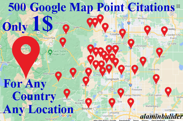 I Will create Manually 500 Google point map citations for Local SEO