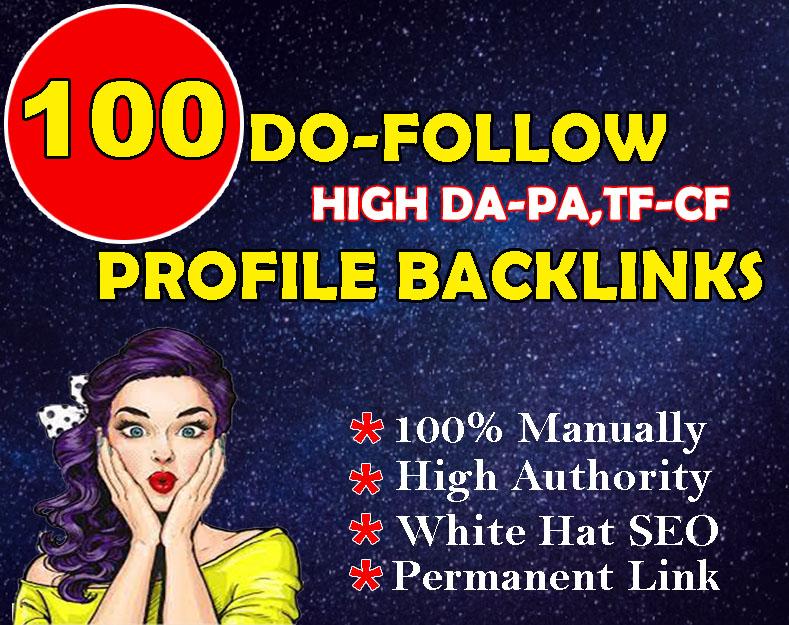 I will do 100 high authority manual DA 80+ & PA 80+ full Do-follow PR9 Profile Backlinks