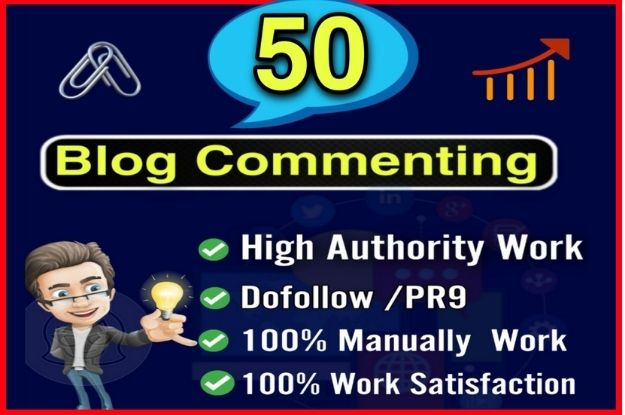 I will build manually 50 high authority dofollow Niche Blog Commenting Backlink