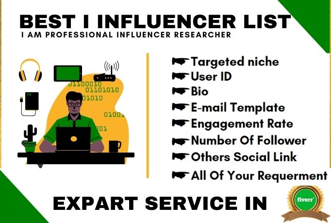 I will find best 15 instagram influencers for promot your business