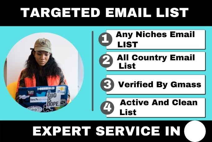 I will provide 3k active and clean verified email list