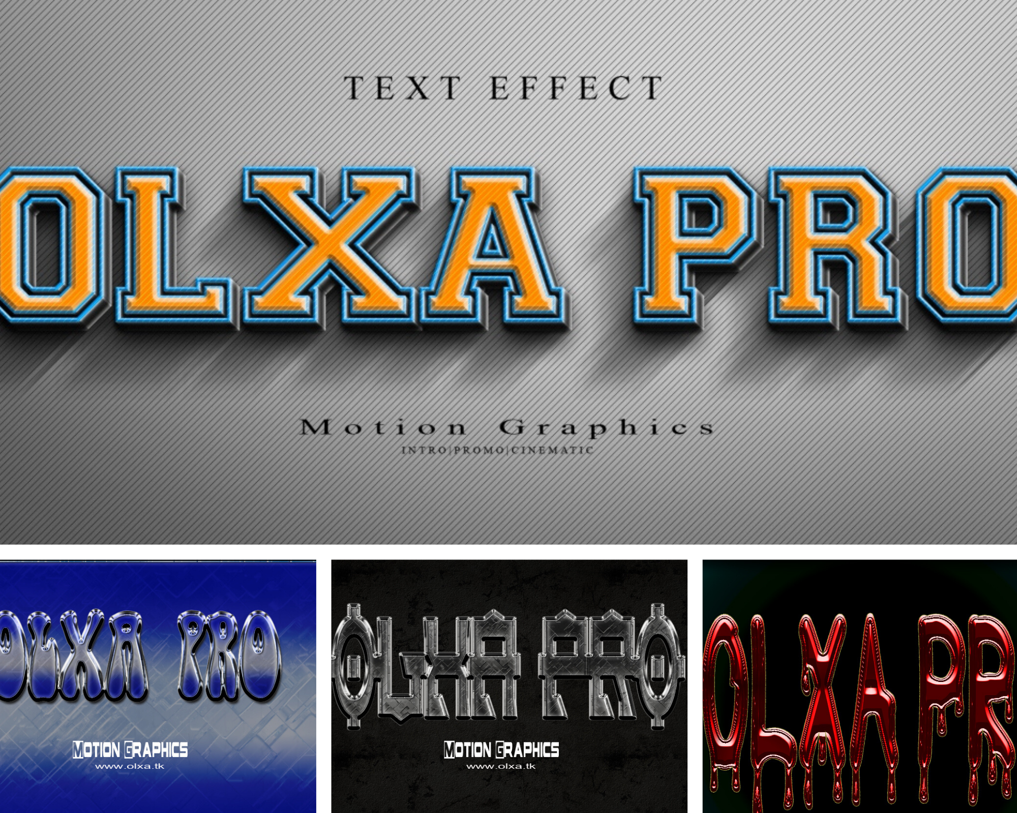 Own 200 PSD files with unique text effects