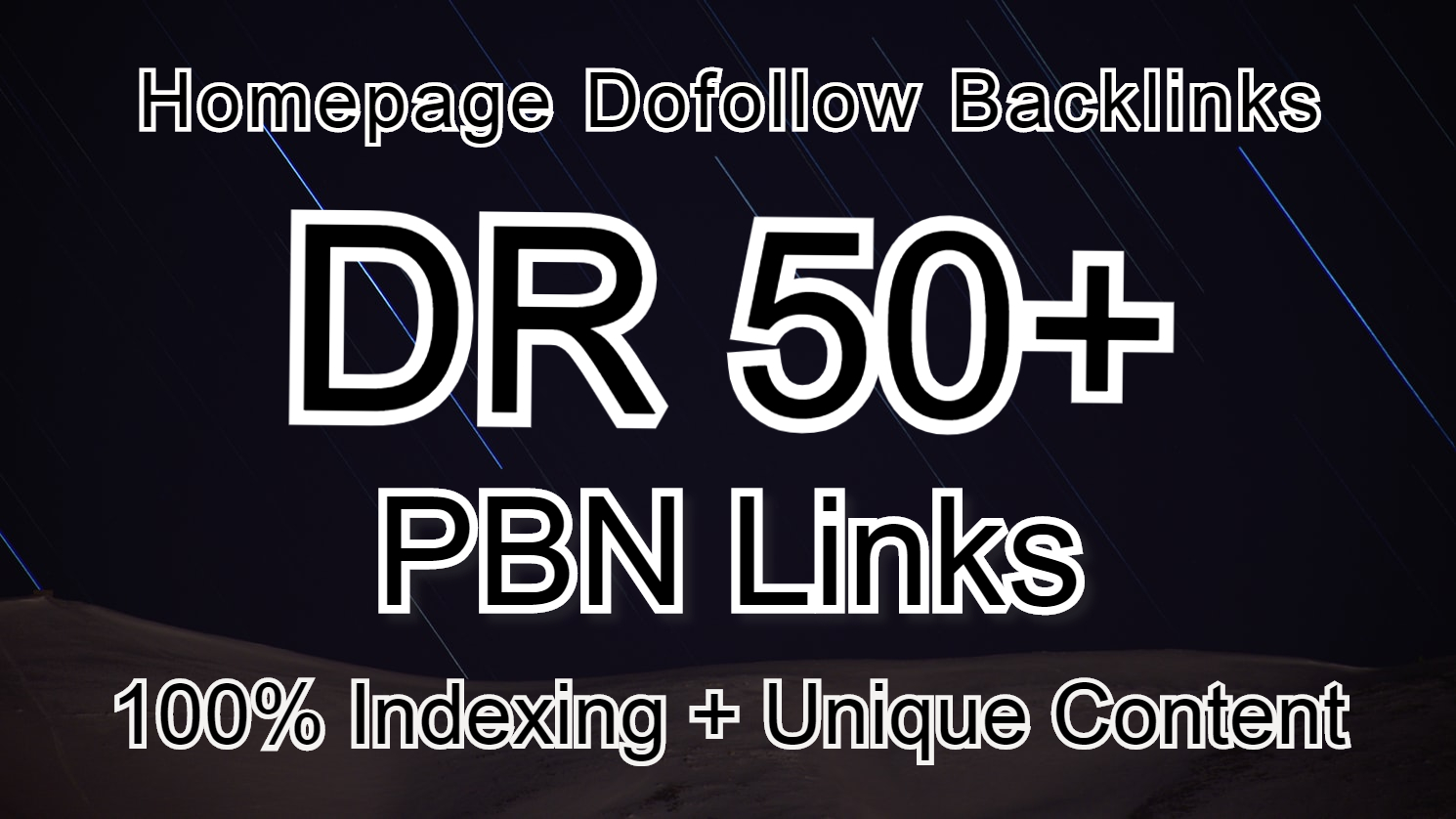 I Will provied 50 Homepage Unique Domains DR50+PBN Backlinks Dofollow