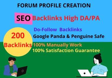 I will create 80 social profile creation seo backlinks DA 80 plus