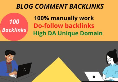 I Will Make 100 High Quality SEO Backlinks Using Blog Comments For Your Web Site Ranking