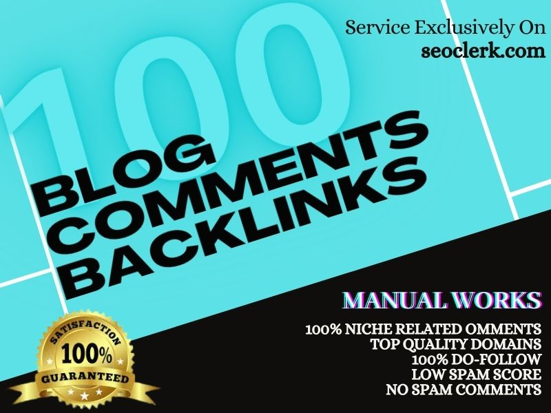 I will Provide 100 Premium quality Specific niche Relevant Blog Comment Backlink Services