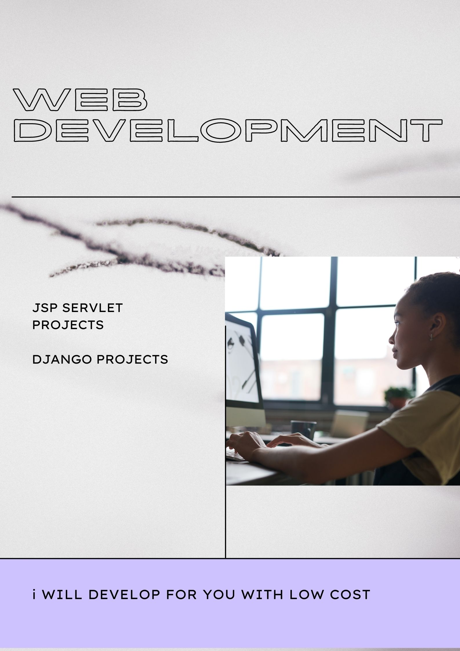 I will develop django and servlet projects for you
