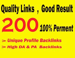 Create 200 High Quality Dofollow profile backlinks