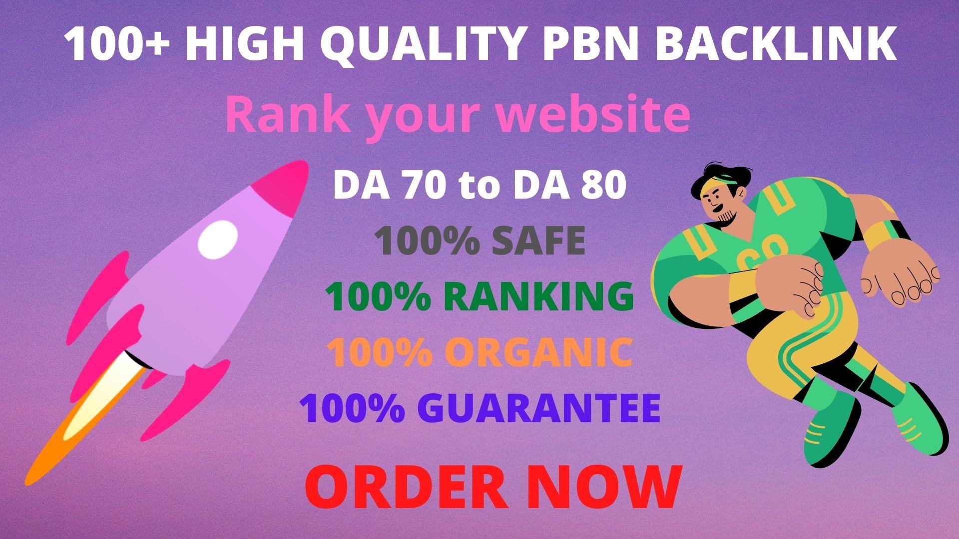 Get 100+High DA 60+PBN Backlink to Rank Your Website.