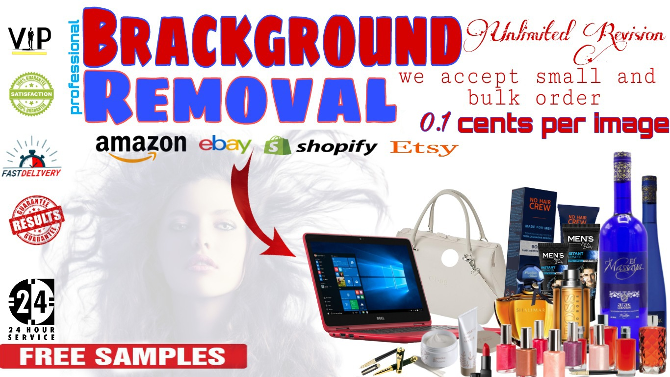 I will remove stylish background 100 photos or products,  unlimited revisions for you