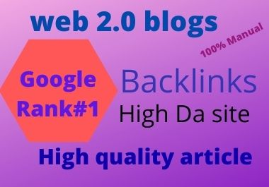 i will do best 20 manual web 2.0 seo backlink