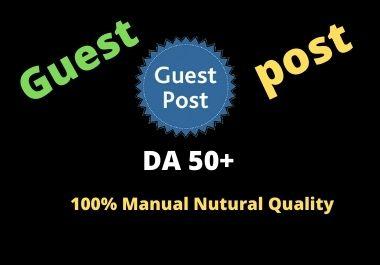 Write and Publish Best 5 Guest Post High Authority DA50+ Unique Content Natural Contextual Backlinks