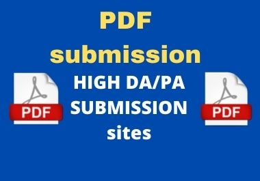 Submit 30 best PDF submission on document sharing sites