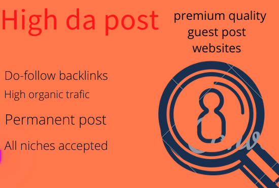 i will do guest post on high da traffic sites