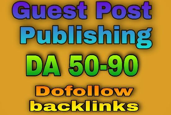 I will publish high da guest post and dofollow backlink da 66