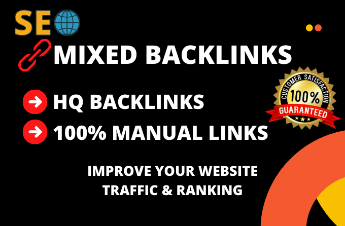 I will do 100 dofollow HQ mixed backlinks to rank your business.