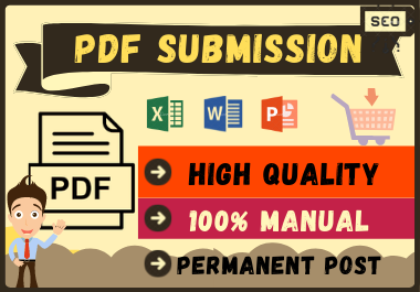 20 PDF Submission High Authority Low Spam Score Site Permanent Dofollow Backlinks