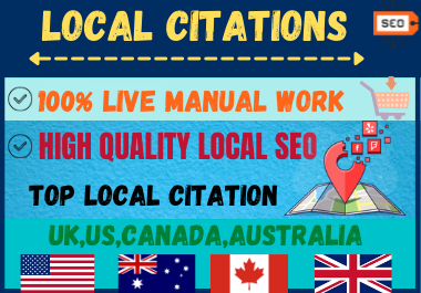 Live 20 Local Citations High Authority Website Directory Submission Local Listing.