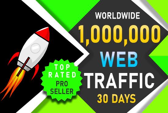 I will drive worldwide 1 MILLION website traffic