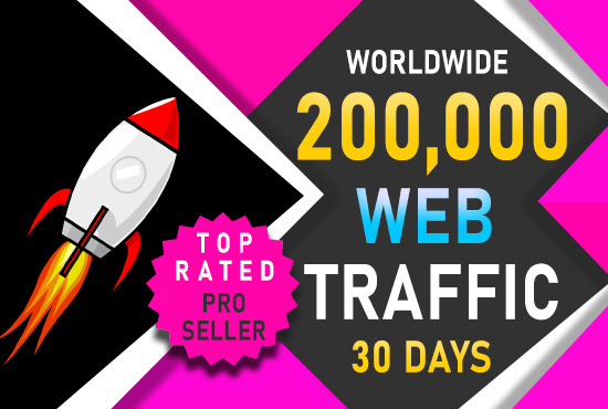 I will drive 200,000 real website traffic