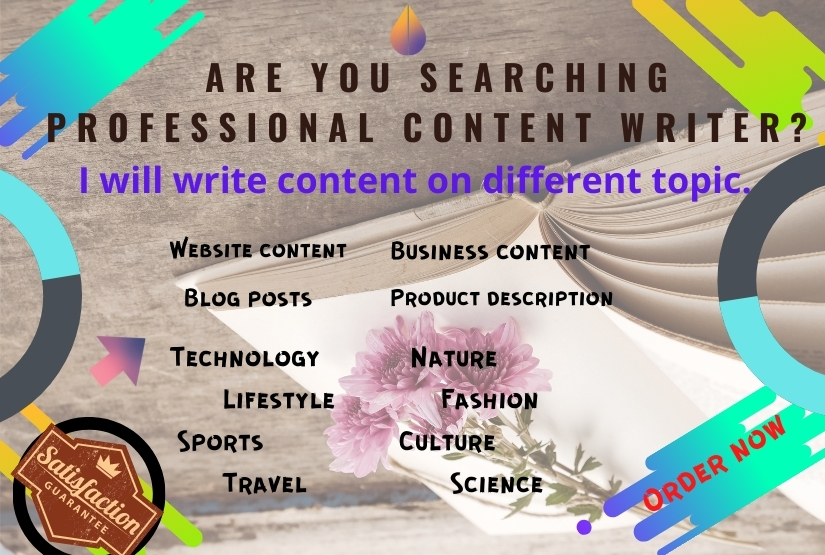 I will do your creative content,  SEO,  and article writing.