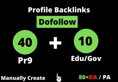 I will Manually do 40 PR9 + 10 EDU/GOV High Authority Backlinks - Skyrocket your Google RANK