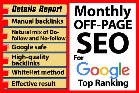 I will do monthly website SEO service,  technical,  onpage,  offpage
