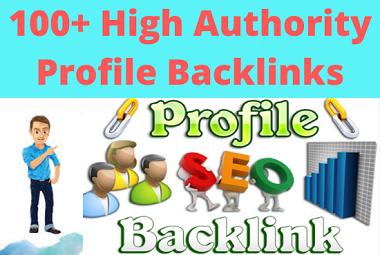I will create 30 high authority profile backlinks