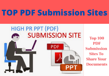 I will create manually 30 PDF Submission Site List 2o21-High DA PR Updated