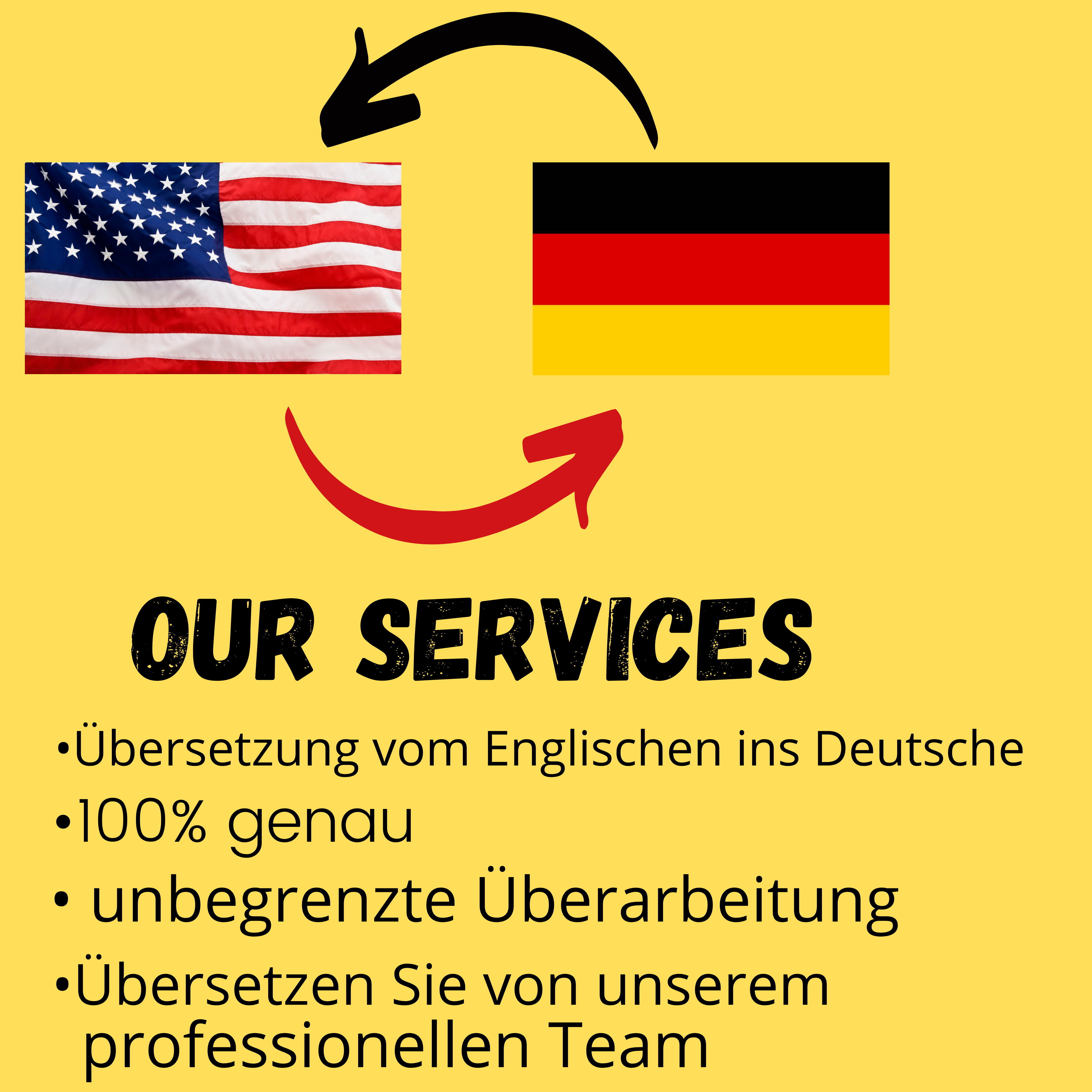I will professionally translate your text English to German and German to English