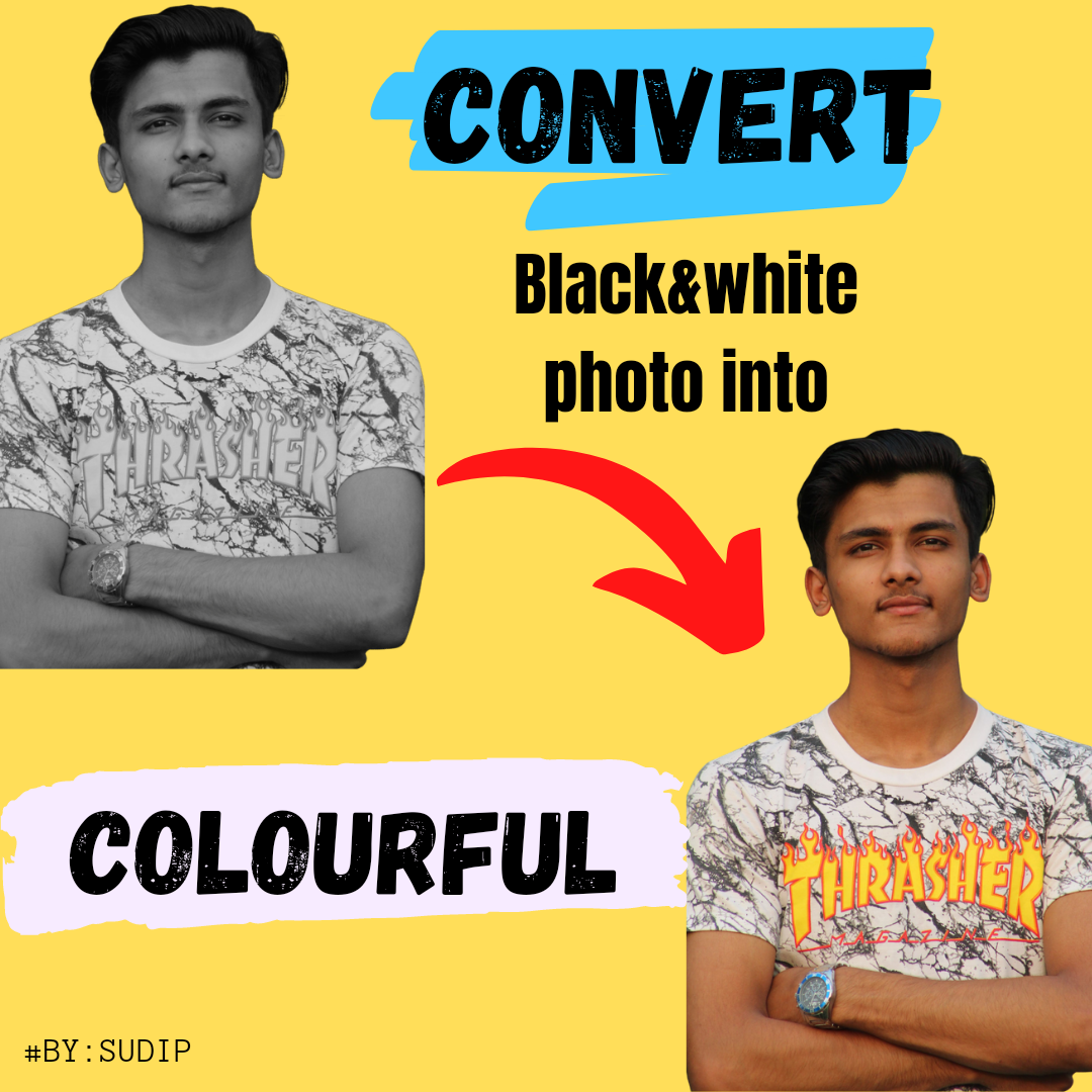I will turn your black and white photo into colourful