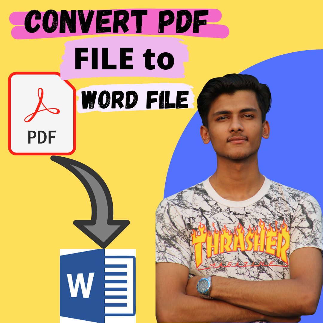 I will convert PDF file to WORD file