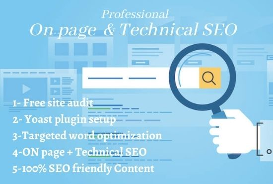 I will do ONpage SEO and technical SEO for your website