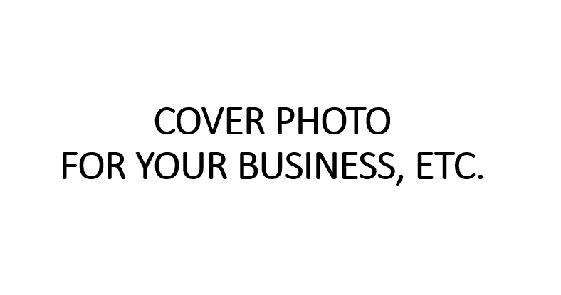 I will design a cover photo for your business, etc.