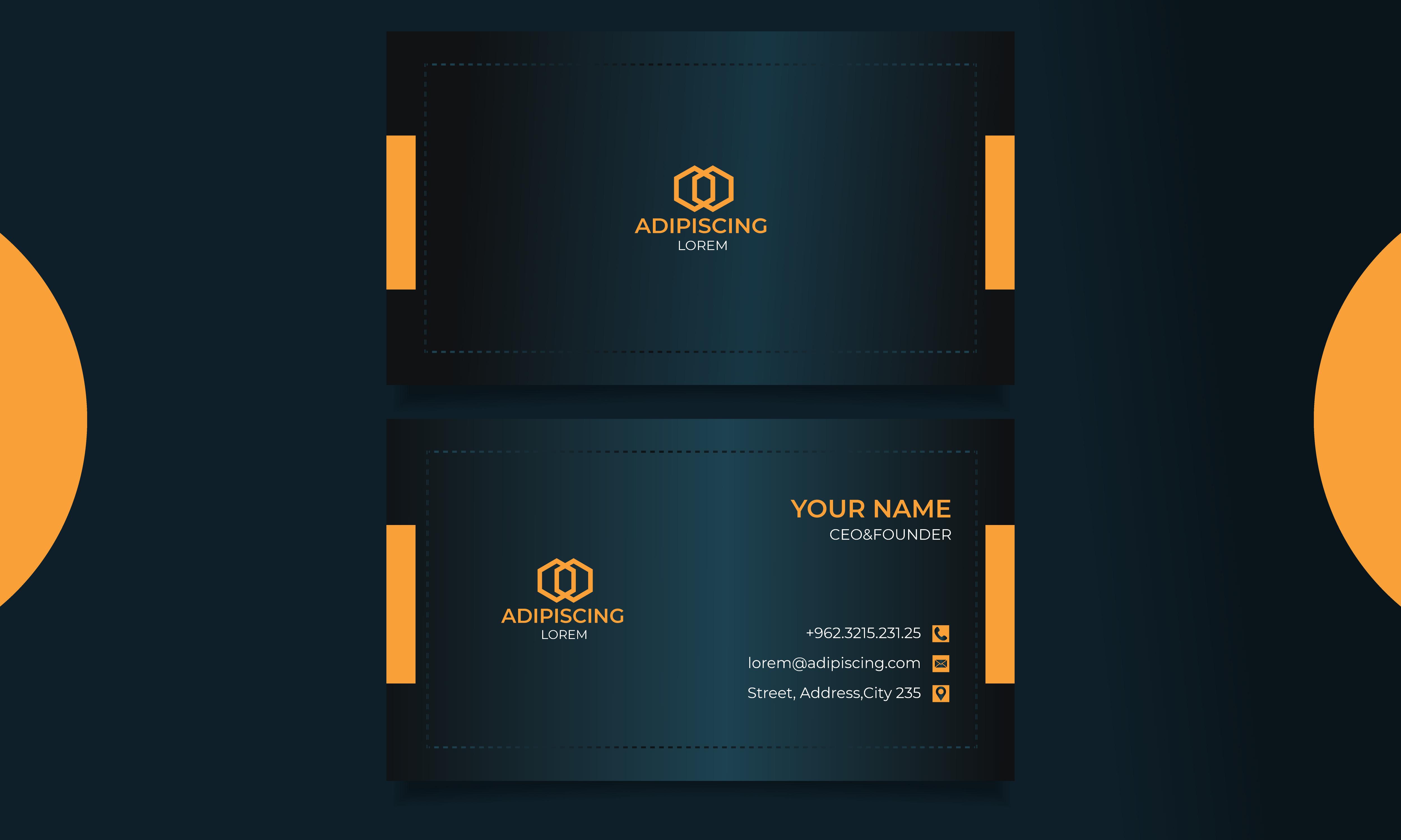 Professional & Modern Business card design