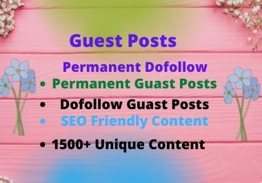 I will do high da guest post SEO do follow backlinks