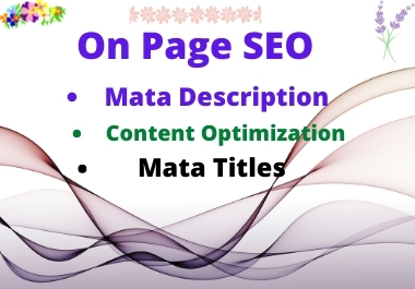 I will do complete WordPress on-page SEO optimization.