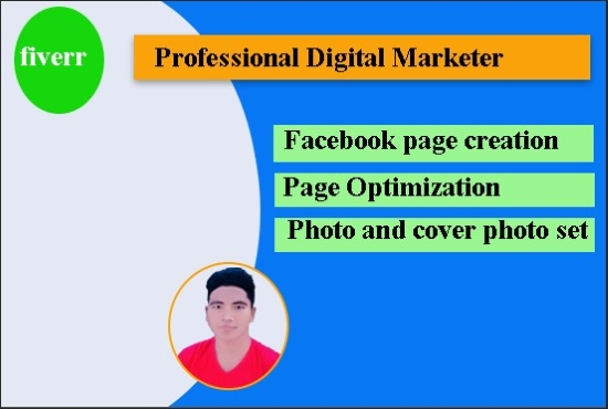 I will create and optimize the Facebook business page.