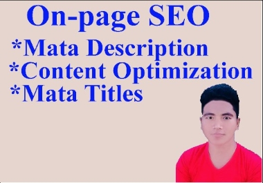 I will do on-page SEO of your website